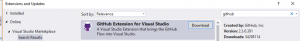 Extension GitHub pour Visual Studio